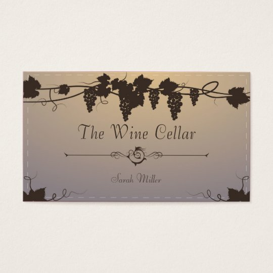 Vintage Winery Business Card - Grape Vine Wine