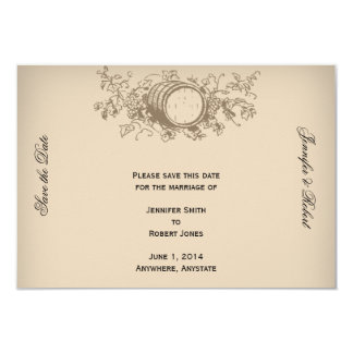 Vintage Winery Save the Date Card