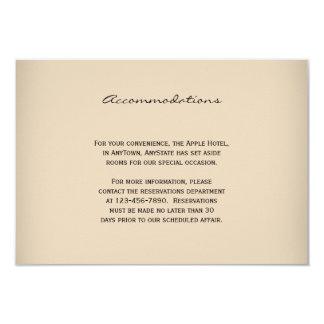 Vintage Winery Wedding Insert Card