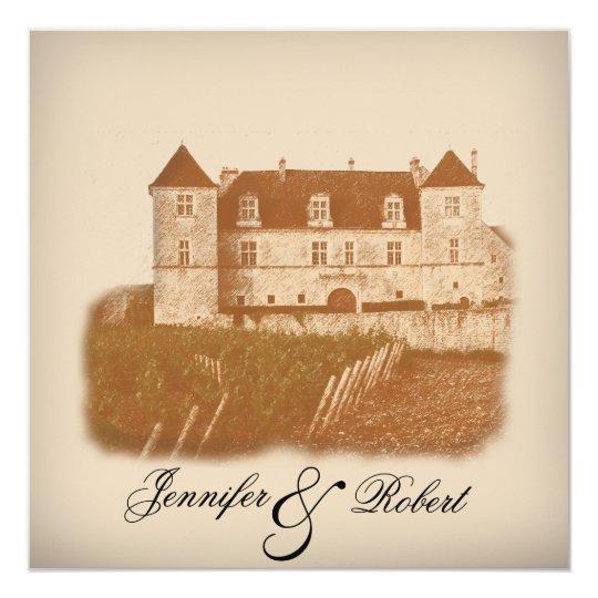 Winery Wedding Invitations: Vintage Winery Wedding Invitation