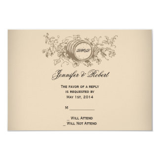 Vintage Winery Wedding Response Card