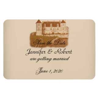 Vintage Winery Wedding Save the Date Rectangular Photo Magnet