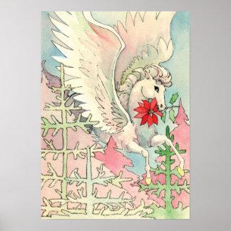 Vintage Winged Horse Poster