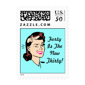 Vintage Wink Birthday Stamp Sixty is the new Fifty