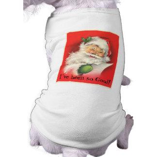 Vintage Winking Jolly Santa Claus Pet Tee