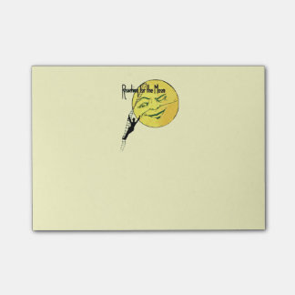 Vintage Winking Moon Man Ladder Reach for Moon Post-it Notes