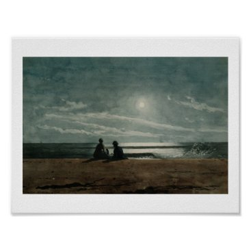 Art Themed Vintage Winslow Homer Moonlight Poster