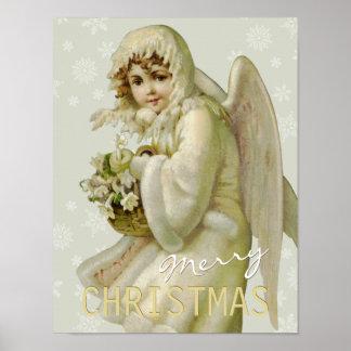 Vintage winter angel CC0620 Christmas Poster