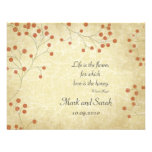Vintage Winter Berry RSVP Personalized Invitations