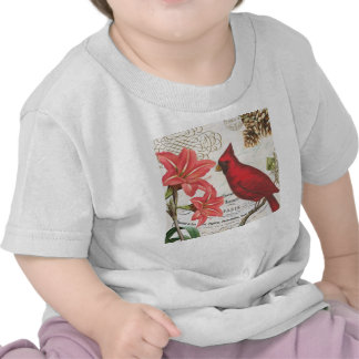 vintage winter cardinal t-shirt