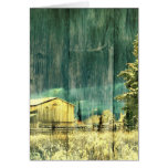 Vintage Winter Country Barn Card
