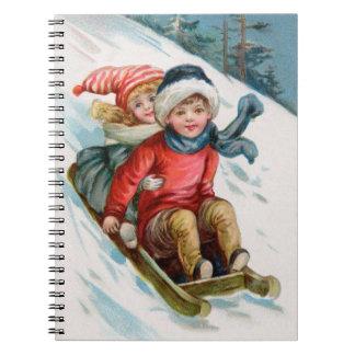 Vintage Winter Fun Note Book