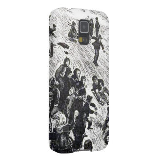 Vintage Winter Fun on Christmas Day Galaxy S5 Case
