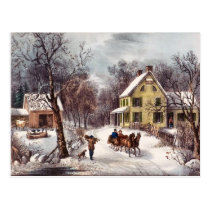 Vintage Winter Postcard