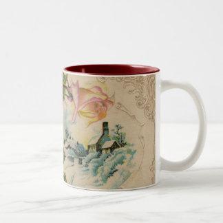 Vintage Winter Roses Coffee Mug