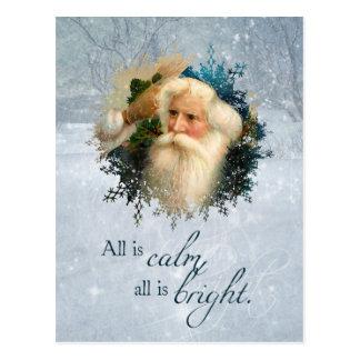 Vintage Winter Santa Christmas Postcard