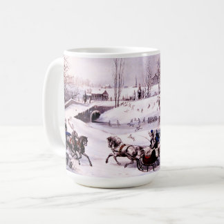 Vintage Winter Scene. Fine Art Christmas Gift Mugs