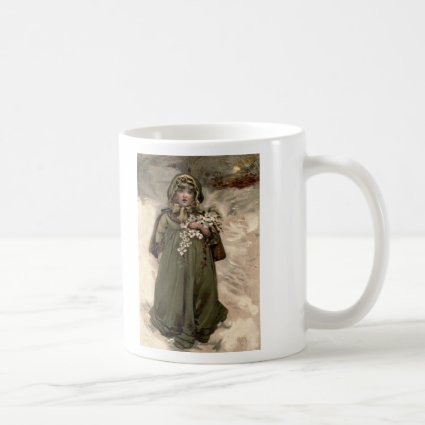 Vintage Winter Snow Girl Mugs