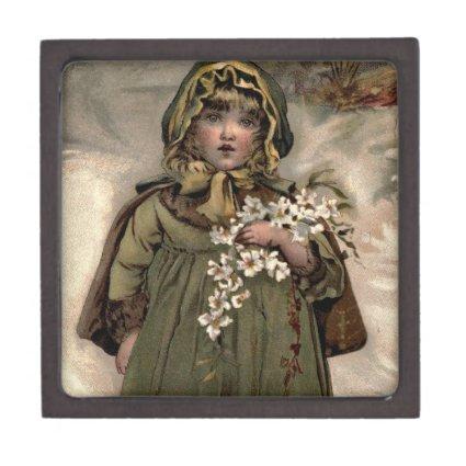 Vintage Winter Snow Girl Premium Gift Boxes