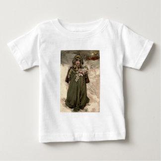Vintage Winter Snow Girl T Shirt