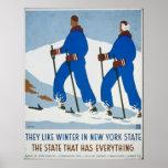 Vintage Winter Sport in New York Poster