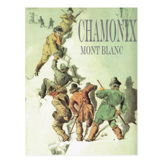 Vintage Winter Sports Chamonix Mt Blanc Postcards