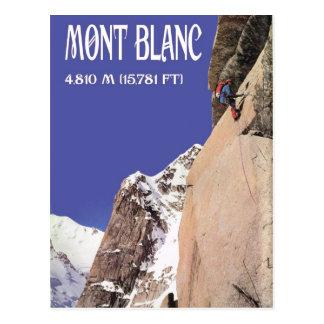 Vintage Winter Sports Climbing Mt Blanc Postcard