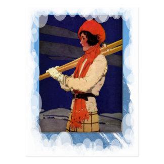 Vintage Winter Sports - Fashion on the ski slopes Postcard