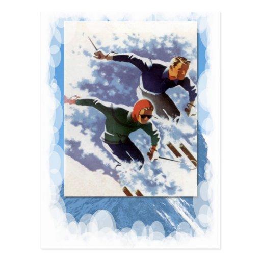 Vintage Winter Sports - Race Post Card