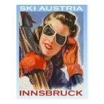 Vintage winter sports, Ski Austria, Innsbruck Postcard