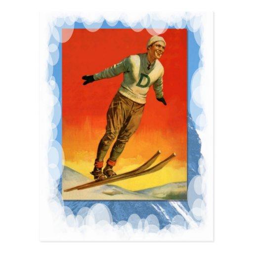 Vintage Winter Sports - Ski jumper Postcard