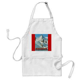 Vintage winter sports, Ski Zermatt, Matterhorn Adult Apron