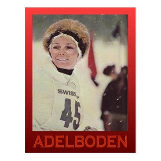 Vintage winter sports, Switzerland, Adelboden Postcard