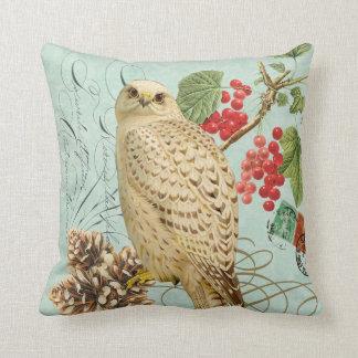 Vintage Winter white owl pillow