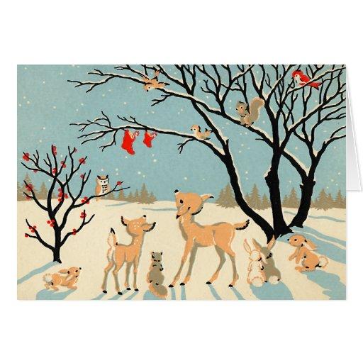Vintage Winter Wonderland Christmas Card