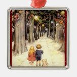 Vintage Winter Wonderland Christmas Ornament
