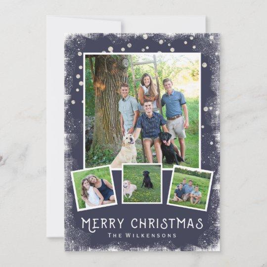 vintage winter wonderland christmas photo collage holiday