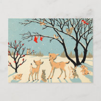 Vintage Winter Wonderland Holiday Postcard