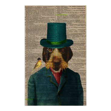 gidget26 Vintage Wirehaired Pointing Griffon Poster