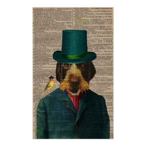 Vintage Wirehaired Pointing Griffon Poster