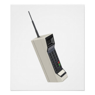 Vintage Wireless Cellular Phone Poster