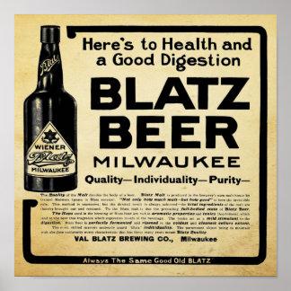 Vintage Wisconsin Beer Print