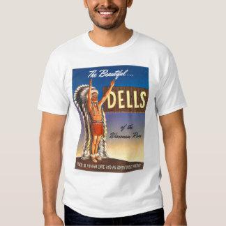 Vintage Wisconsin Dells 'Chief' Ad Art Kitsch T Shirt