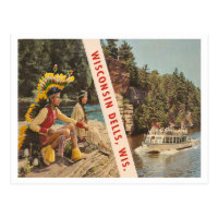 Vintage Wisconsin Dells Wisconsin Postcard