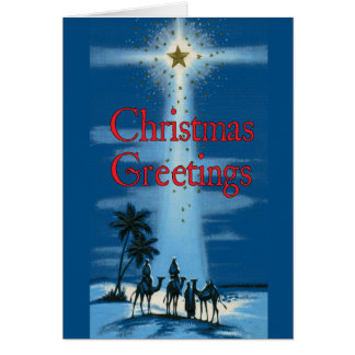 Vintage Wise Men Christmas card