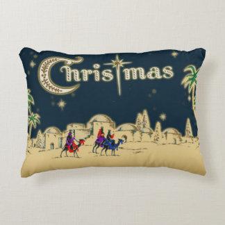 Vintage Wisemen/Desert Religious Christmas Accent Pillow