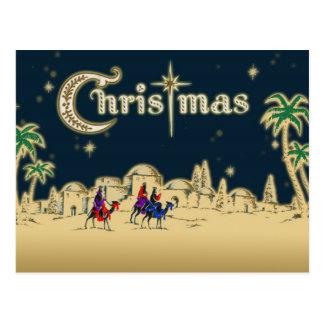 Vintage Wisemen/Desert Religious Christmas Postcard
