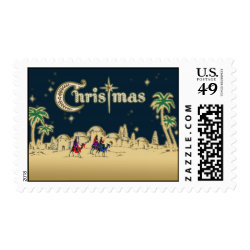 Vintage Wisemen/Desert Religious Christmas Stamp