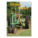 Vintage, WishesTractor-customize any occasion Cards
