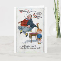 Vintage - Wishing You a Jolly Christmas, Card